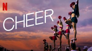 """Promotional poster for Netflix's """"Cheer."""""""