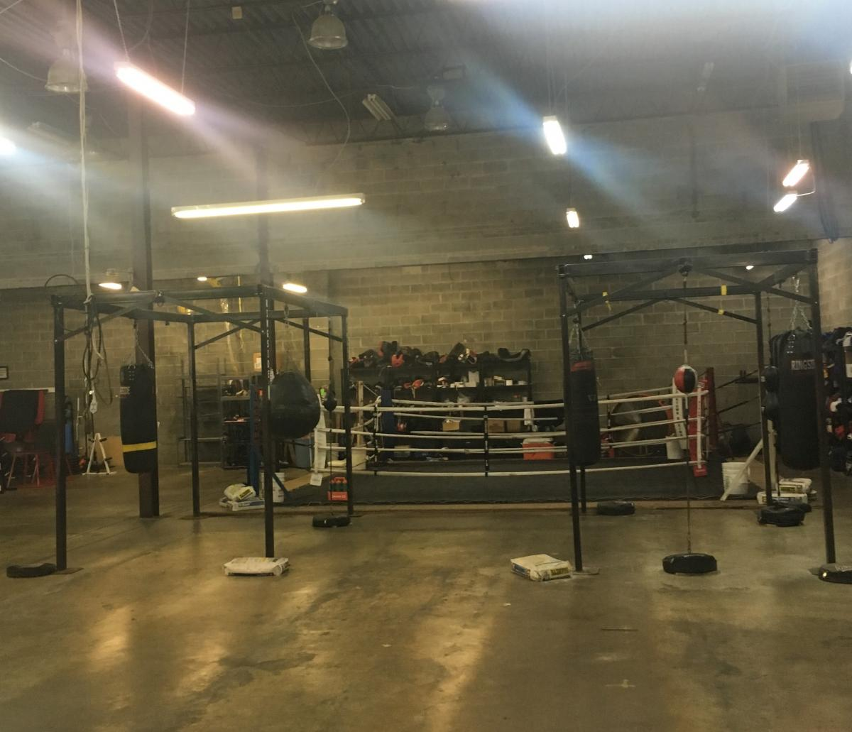 inside the boxing gym