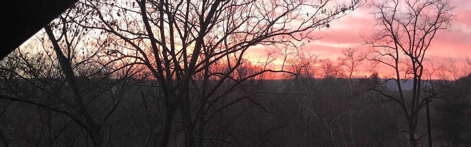photo of sunrise in Shenandoah River Valley