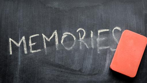 Erasing memories on chalk board